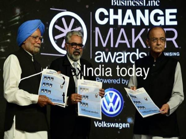 Arun Jaitley Gets Award From Manmohan Singh Successfully Introducing Gst