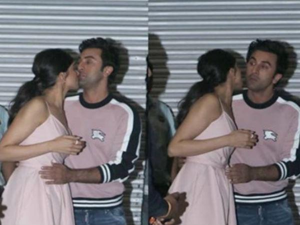 Deepika Padukone Hug Kiss Ranbir