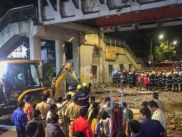 Mumbai Bridge Collapse Congress Demands Piyush Goyal Resign