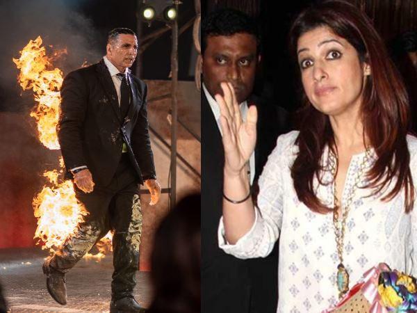 Akshay Kumar Did Fire Stunt Twinkle Khanna Said If You Survived I Will Kill You