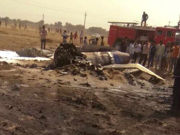 Indian Air Force Mig 29 Crashes Bikaner Rajasthan