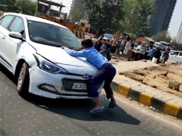 In Shocking Case Road Rage Seen Ghaziabad