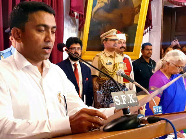 Pramod Sawant Takes Oath As New Chief Minister Of Goa 11 Cabinet Minister Also Takes Oath
