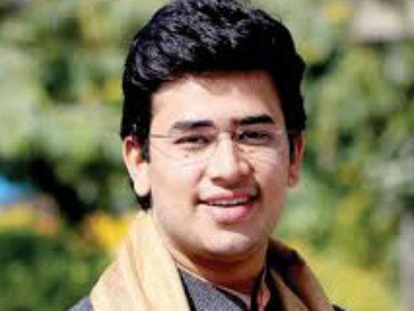 Tejasvi Surya Youngest Bjp Candidate Deletes 2014 Tweet On Women Bill