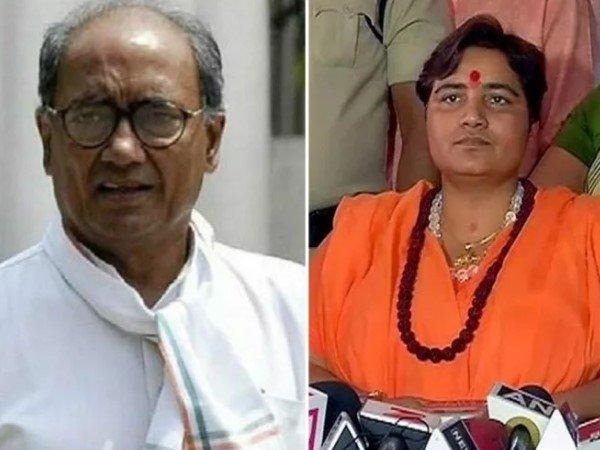 Sadhvi Pragya S Attack On Digvijaya Singh Over He Called Kanhaiya Kumar For Campaign