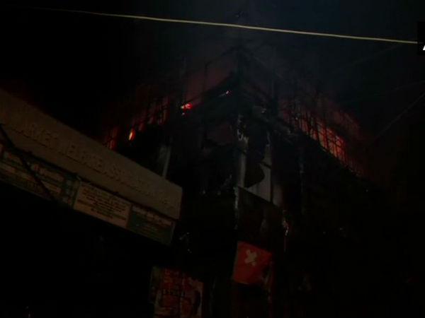 Delhi Fire Breaks Out At A Clothes Showroom In Uttam Nagar