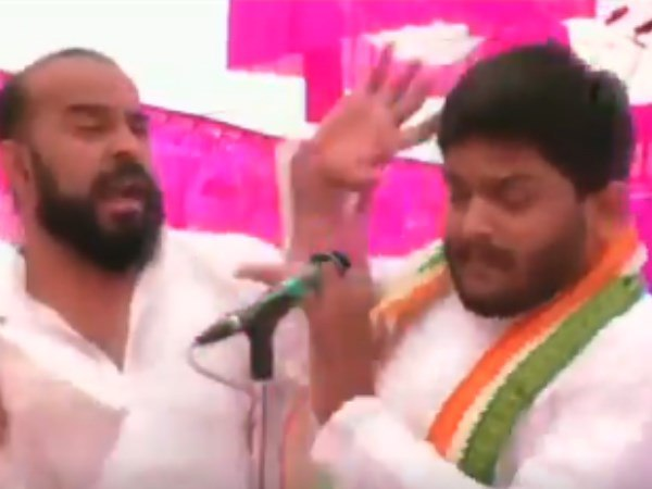 Surendranagar Unknown Person Slapped Hardik Patel During Rally