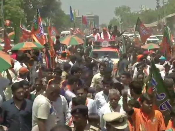 Amit Shah Holds Road Show In Gujarat Ahemdabad Gujarat