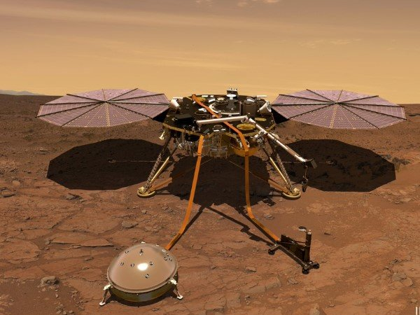 Nasa S Insight Mars Lander Detects First Likely Quake On Mars Audio Will Haunt You