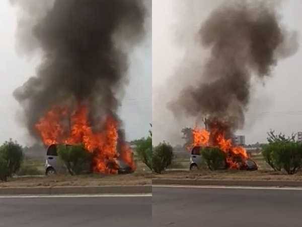 વીડિયો: કારમાં રાખેલી પાણીની બોટલથી પણ આગ લાગી શકે છે