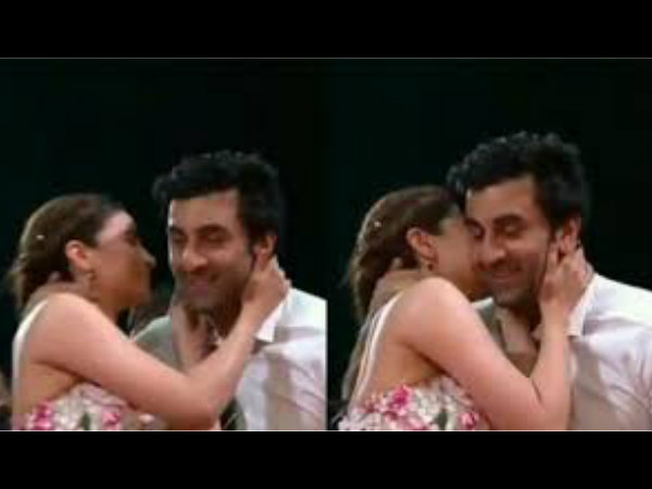 Ranbir Kapoor Shares An Awkward Kiss With Alia Bhatt See Video