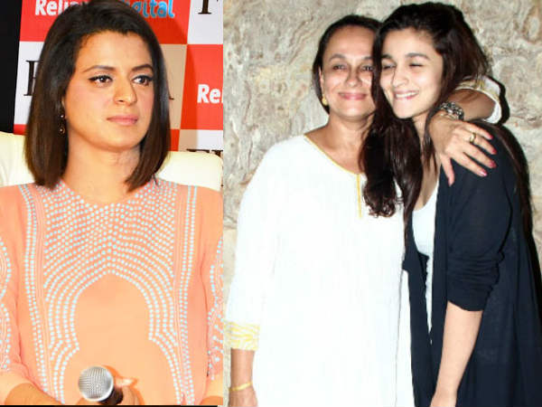 Kangana Ranaut Sister Rangoli Attacks Alia Bhatt And Soni Razdan