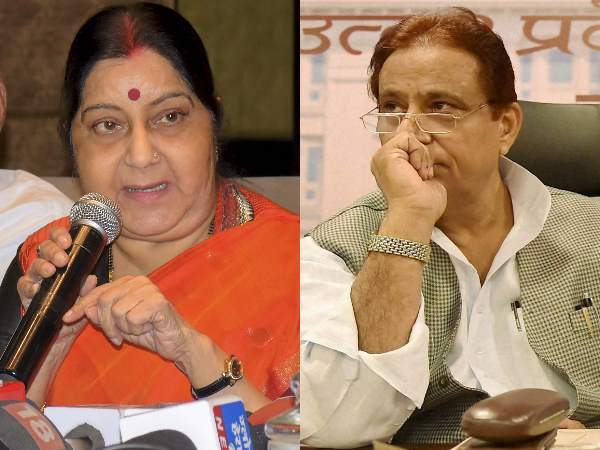 Lok Sabha Elections 2019 Sushma Swaraj Attacks On Azam Khan