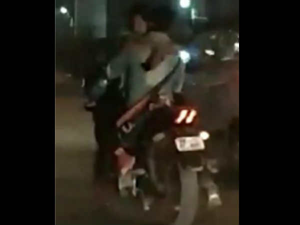 Couple Makes Out On Running Bike On Delhi Road In Viral Video