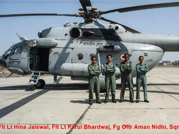 Indian Air Force First Time All Woman Crew Flies Mi 17 Helicopter