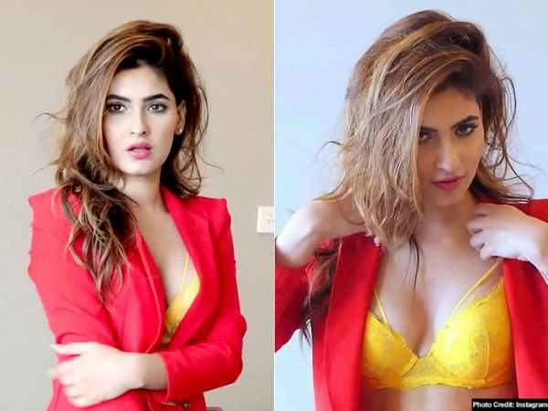 Ragini Mms Returns Actress Karishma Sharma Black Sexy Look