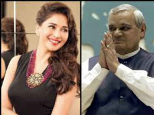 Birthday Special Atal Bihar Vajpayee Was A Big Fan Of Dhak Dhak Girl Madhuri Dixit