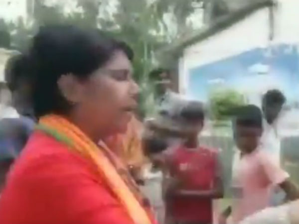 Video West Bengal Bjp Candidate Bharati Ghosh Threatens Say Will Drag You Like Dog
