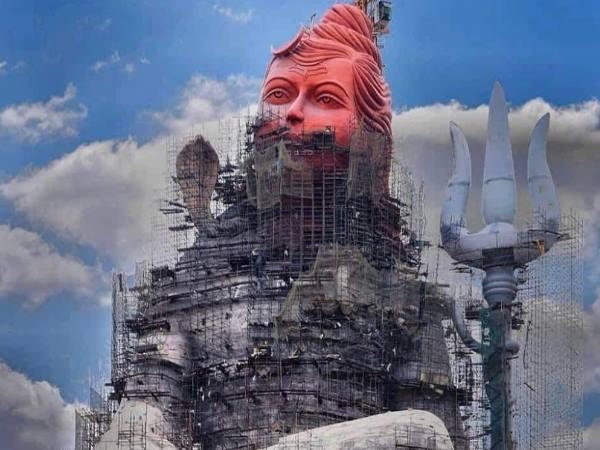 World Largest Lord Shiva Statue Make At Ganesh Tekri In Rajasthan