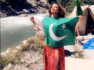 Rakhi Sawant Poses With A Pakistani National Flag Clarifies Act In Video