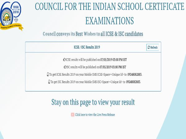 Icse Results 2019 Icse 10th 12th Results Check This Way