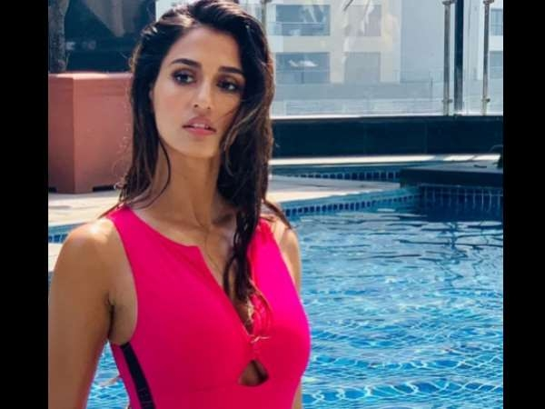 Disha Patani Share Hot Piture Pink Monokini Near Pool