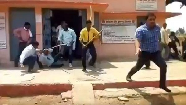 Bjp Leader Got Arrested For Beating Cmo In Satna Of Madhya Pradesh