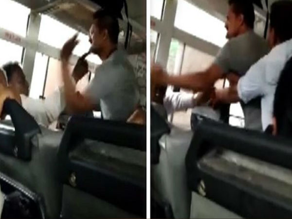 Video Viral Gujarati Bus Conductor Fight With Old Man In Sarkari Bus