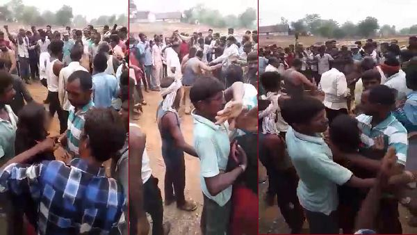 In Gujarat Angry Crowd Brutally Beat Married Man Running With Her Lover