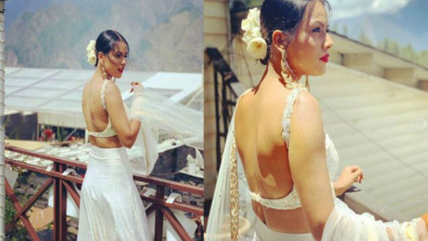 Nia Sharma Set Fire On Internet With Her Backless Blouse Pics