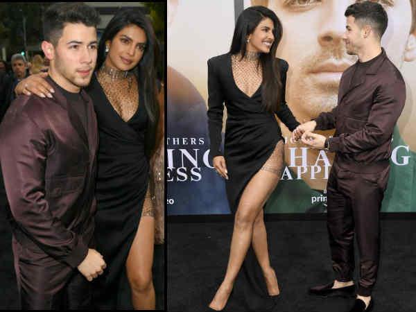 Priyanka Chopra Slays In A Bold Sexy Gown At Jonas Brother Documentary Premiere