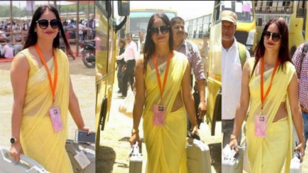 A Yellow Sari Polling Officer Reena Dwivedi Again Goes Viral