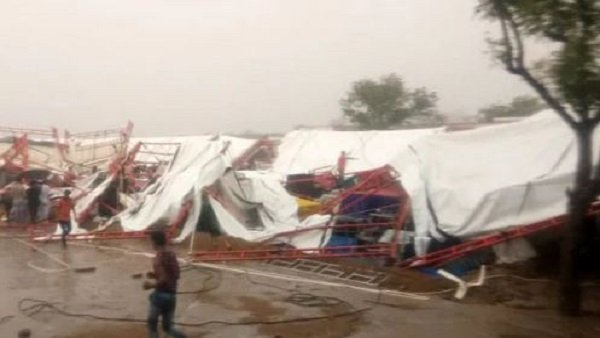 Rajasthan Pandaal In Barmer Collapsed Several Dead Pm Modi Amit Shah Expressed Condolences