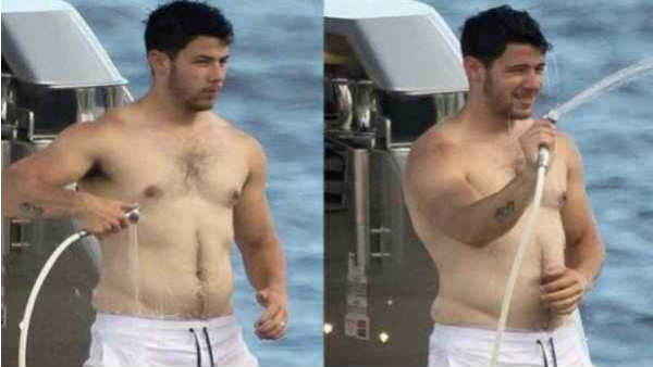 Nick Jonas Pushes Priyanka Chopra Off The Yacht Flaunts His Love Handles See Pics