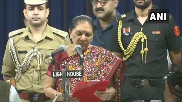 Anandiben Patel Takes Oath As Uttar Pradesh Governor In Lucknow