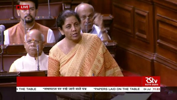 Nirmala Sitharaman Presented The Economic Survey In The Rajya Sabha