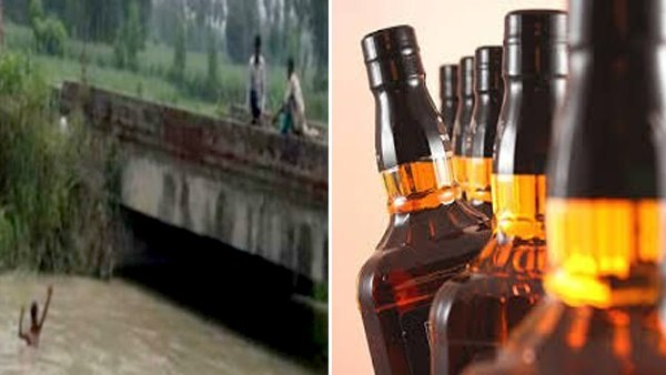 Wine Bottles Seen In Canal Of Saharanpur