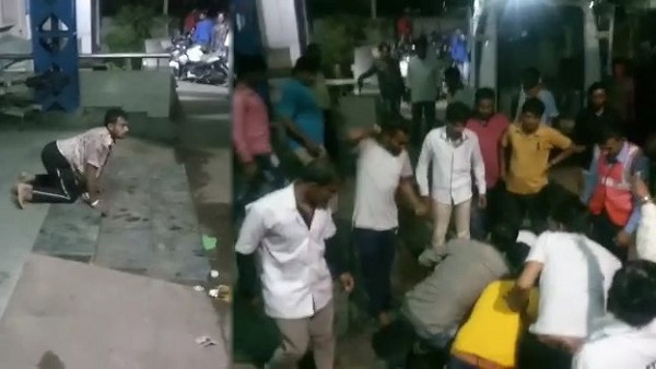 Video In Gujarat A Man Behavior Like Animal And Try To Bite People