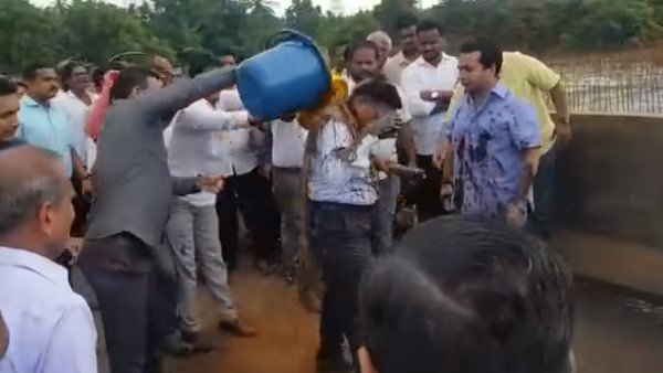 Congressman Mla Rane Surrendered After Throwing Swamp On An Engineer
