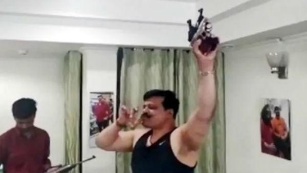 Bjp S Drunked Mla Dancing Showing Guns Power Video Viral