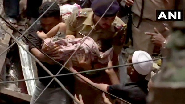 Mumbai Building Collapse A Child Rescued Admitted To Hospital