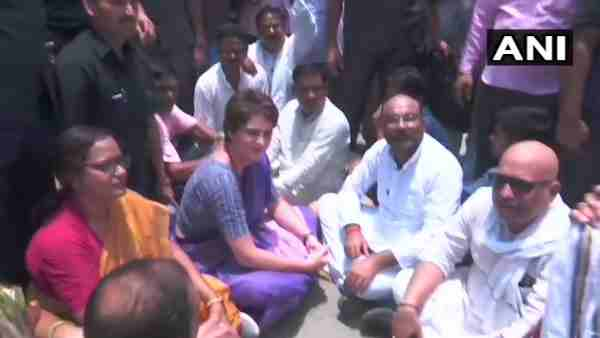 Priyanka Gandhi Vadra Detained In Narayanpur By Police