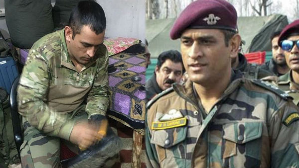 Ms Dhoni Boot Policing Wearing Army Uniform Pic Went Viral From Kashmir