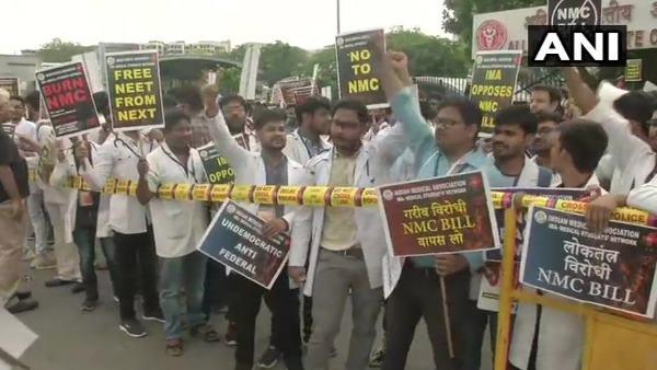 Resident Doctors Strike Across Nation Against Nmc Bill