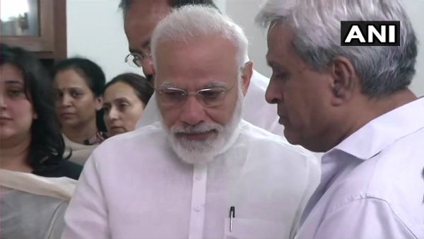 Watch Pm Modi Gets Emotional While Paying Last Respect To Sushma Swaraj