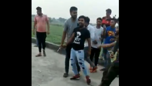 Video Viral Cutting A Cake With A Gunshot In Baghpat Uttar Pradesh
