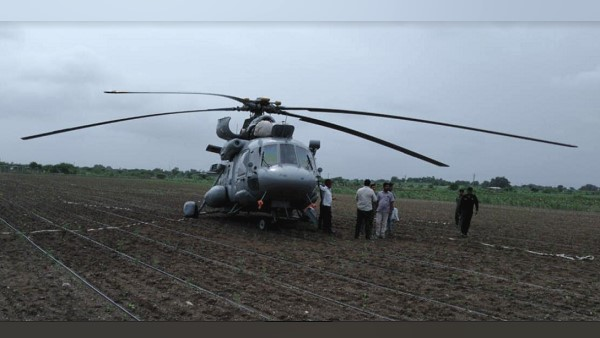 Gujarat Iaf Helicopter Emergency Landing Due To Technical Issue