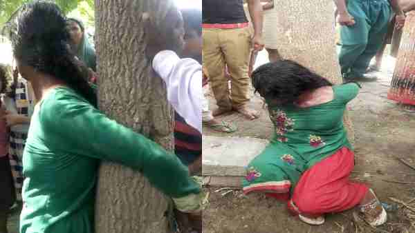 Suspicion Of Child Theft A Woman Was Tied To A Tree And Brutally Beaten