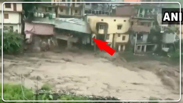 A Video Showing A House In Uttarakhand Collapses After Flash Flood