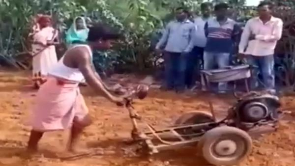 Mahesh Built Tractor From Scrap Of Scooter